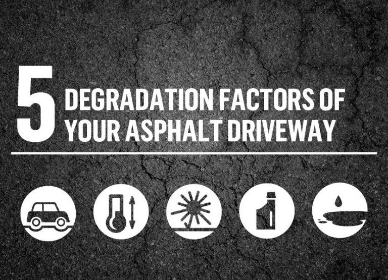 5 degradation factors of your asphalt driveway