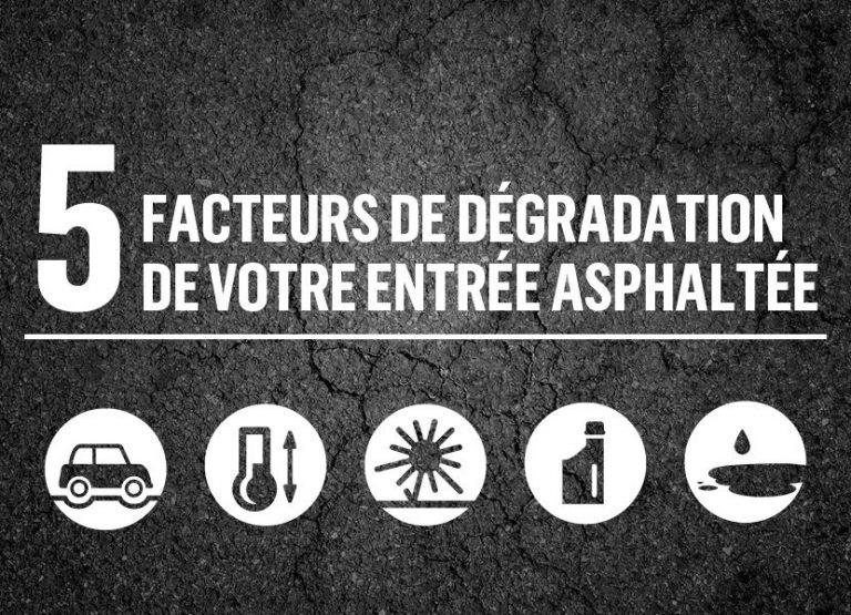 5 facteurs de dégradation de votre entrée asphaltée